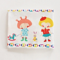 Childhood Friends illust pattern cotton