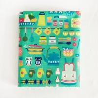 Funny Kitchen illust pattern washing cotton