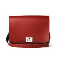 Pillarbox Red Leather Pixie Bag