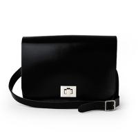 Patent Pitch Black Medium Pixie Bag