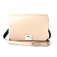 Patent Naked Taupe Leather Pixie Bag