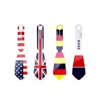 [타이택/Tie Tag] 넥타이 모양의 여행가방 네임택-국기시리즈