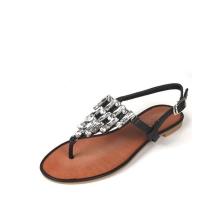 Crystal Chandelier Flat Sandal