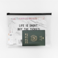Clear Travel Pouch - Buy The Ticket