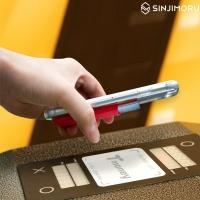 신지파우치 베이직3-붙이는 스마트폰 카드케이스
