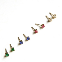 10k gold color cubic earring