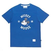 [화이트 블랭크]CIRCLE MICKEY SS SHIRTS(BLUE)