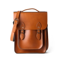 London Tan Portrait Style Backpack