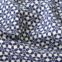 Blue Mosque Design Pattern Linen