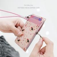 윌로우스토리 패턴 넥 지퍼케이스 (목걸이 카드지갑)