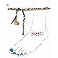 [����ġ] braided anklet - black mix