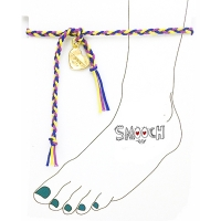 [����ġ] braided anklet - purple mix