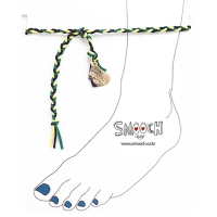 [����ġ] braided anklet - green mix