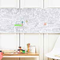 GIANT COLORING ROLL - MEDIUM SIZE PARIS