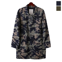 Camo Raglan Long Jacket