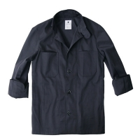 #AJ1379 single chef coat (Dark Grey/Navy)
