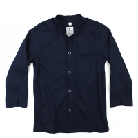 #AJ1557 organic cotton single chef j.k (Navy)