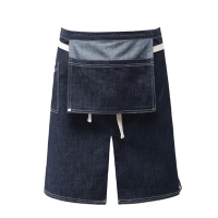 #AA1560 adams denim apron (Blue)