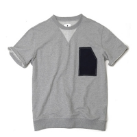 #AT1559 vintage pocket T shirts (Grey)