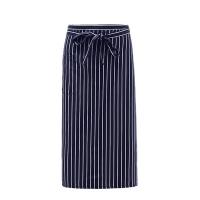 #AA1574 long stripe apron (Black)