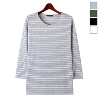 Terry Box Stripe Tee