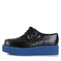 [T.U.K] A8578 Black&Blue Low Round Creeper