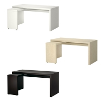 MALM Desk with pull-out panel 책상