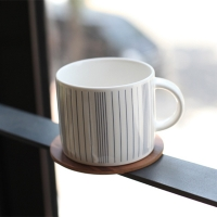 Navy Stripe Cup