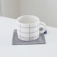Gray Check Cup