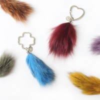 Fox fur keyring & charm