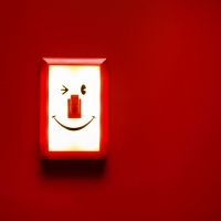 [SPICE] SMILES SWITCH LED LIGHT - RED