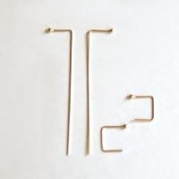 10k gold two sticks earring