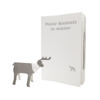 Polar animal in winter
