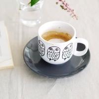 [duboo] Owl Black Mug