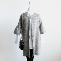 lux knit coat