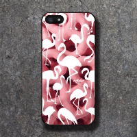 'MOKSTER' PINK FLAMINGO 02 BLACK CASE
