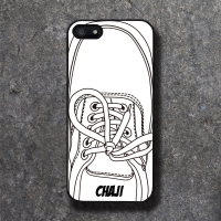 'CHAJI' REAL SHOE (WHITE) BLACK CASE