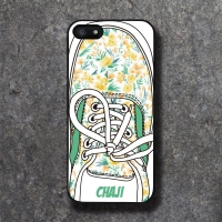 'CHAJI' REAL SHOE (GREEN) BLACK CASE