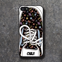 'CHAJI' REAL SHOE (BK FLOWER) BLACK CASE