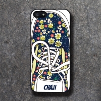 'CHAJI' REAL SHOE (NAVY) BLACK CASE