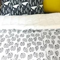 [duboo] Owl Black Comforter