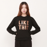 leather lettering LIKE THIS patchwork MTM / JSTS505-FBK