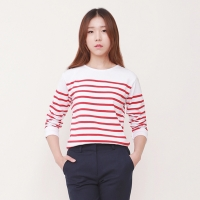 roll-up stripe T-Shirts / JSTS401-FRD