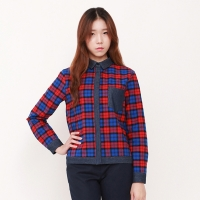 check combination SHIRTS / WVSH401-FBL