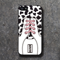 REAL SHOE COW PINK BLACK CASE
