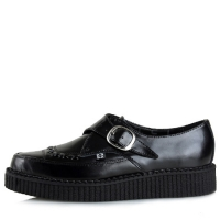 [T.U.K] A8520Black Leather Pointed Creeper