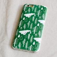 [duboo] Norwegian Wood Olive iPhone6 Bubble Case