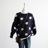 warm dot sweater