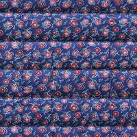 VEVENE'S Feedsack Flower Linen Quilting - #10American Blue