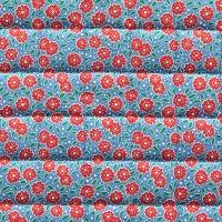 VEVENE'S Feedsack Flower Linen Quilting - #4 Raspberry Blue